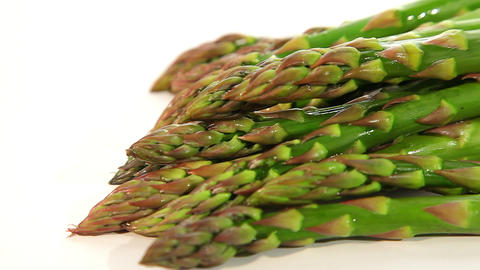 Beautiful green asparagus Footage