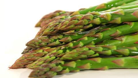 Beautiful green asparagus Stock Video Footage