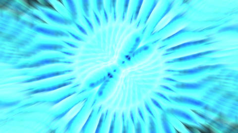 dazzling blue buddhism rays light,ripple taichi pulsing Animation