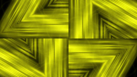 gold metal triangle geometry structure tunnel & fiber... Stock Video Footage