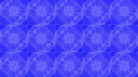 blue square mosaics tile & shine fancy fiber optic... Stock Video Footage