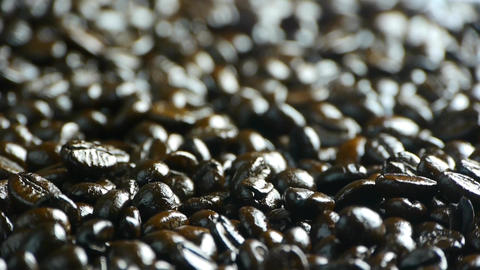 falling coffee beans closeup Stock Video Footage