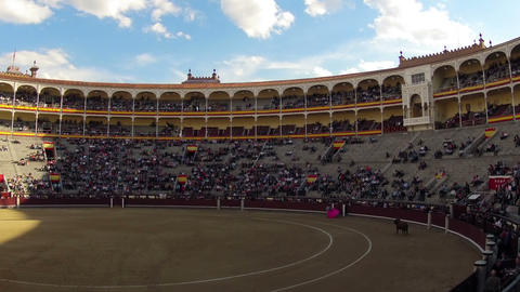 Bullfighting. Start. Timelapse Footage