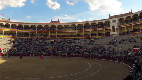 Bullfighting. Start. Timelapse Stock Video Footage