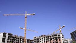 Construction cranes time lapse 2 Footage