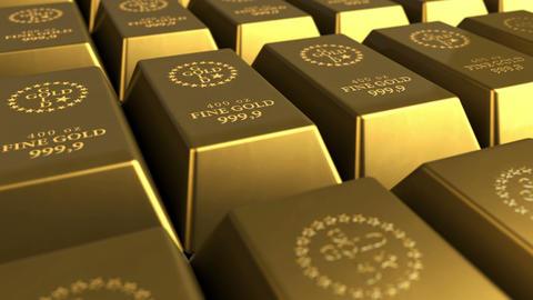 Gold Bricks Stock Video Footage
