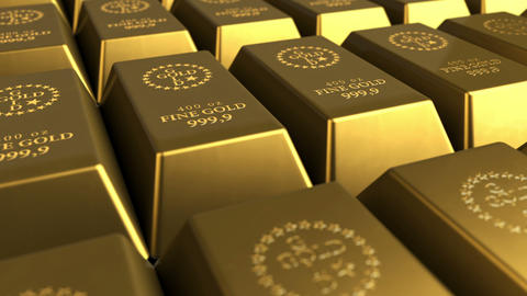 Gold Bricks Stock Video Footage