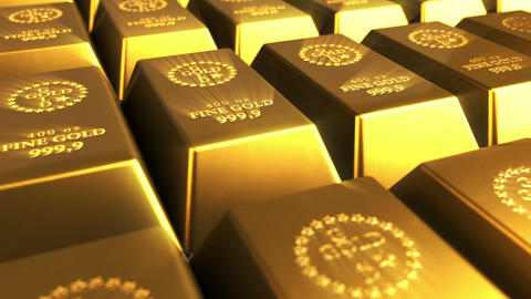 Shiny Gold Bars Stock Video Footage