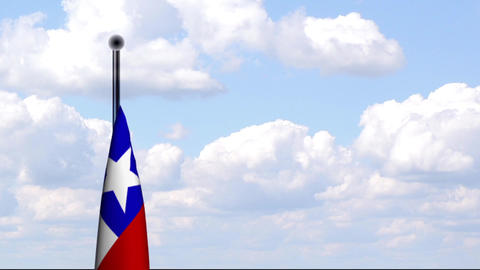 Animated Flag of Chile / Animierte Flagge von Chil Stock Video Footage