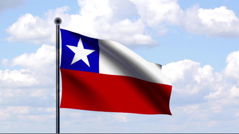 Animated Flag of Chile / Animierte Flagge von Chil Animation