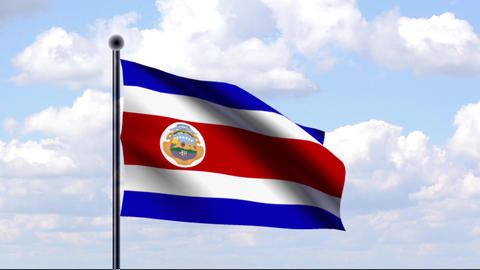 Animated Flag of Costa Rica Animation