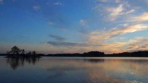 Sunset on lake Stock Video Footage