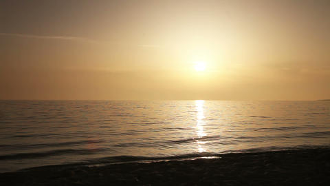 Loving couple running on the sea beach Stock Video Footage