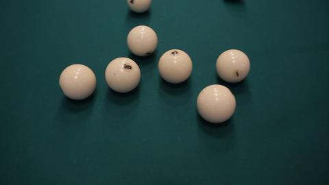 hit billiard balls Stock Video Footage