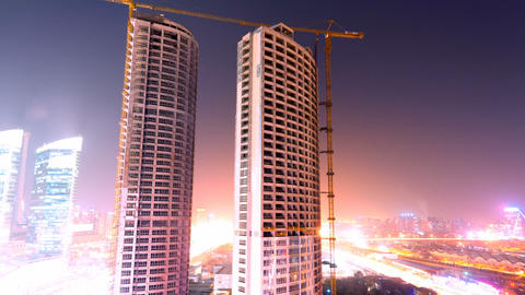 Building Under Construction Stock Video Footage