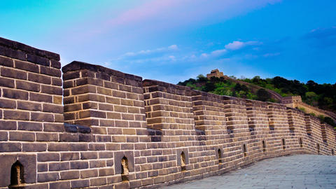 Great wall of China. Timelapse Stock Video Footage