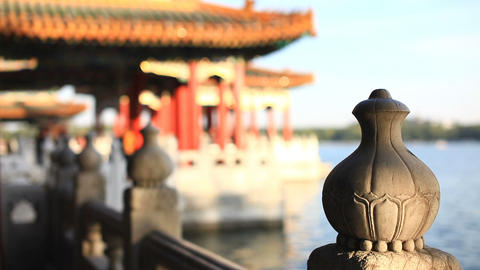 Beautiful Scene of Beijing: Beihai Park Footage