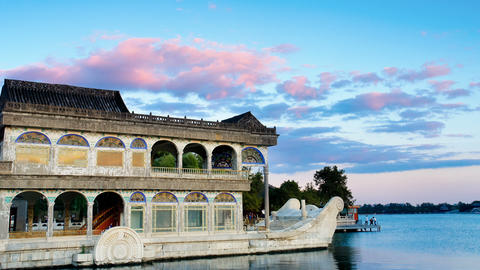 Marble Boat. Summer Palace Beijing stock footage