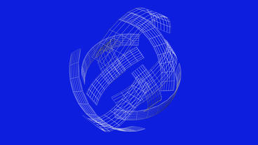 rotation grid ribbon shaped ball,high tech energy background Stock Video Footage
