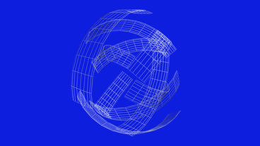 rotation grid ribbon shaped ball,high tech energy background Animation