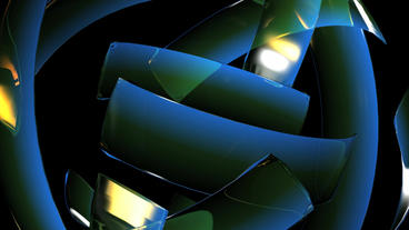 rotation blue glass ribbon shaped ball,high tech energy... Stock Video Footage