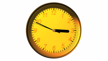 3d clock animation,time lapse Stock Video Footage