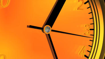 3d clock from near to far,time lapse Stock Video Footage
