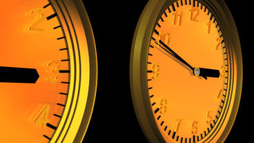 a row of clock time lapse Stock Video Footage