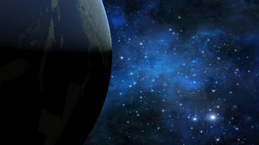 Rotation earth in universe Stock Video Footage