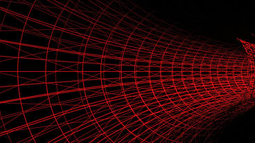 travel in red grid tunnel,tech future virtual background Stock Video Footage