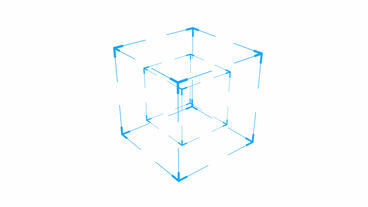rotation frame cube,tech web virtual background Stock Video Footage