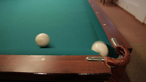 sequence hit billiard balls sound Stock Video Footage