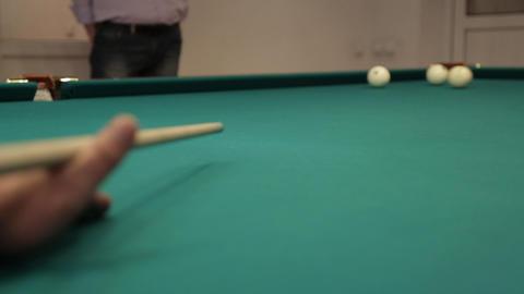 sequence hit billiard balls sound Stock Video Footage