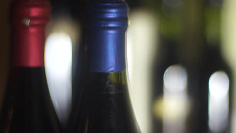 wine bottles Footage