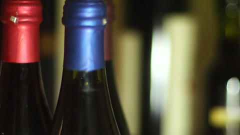 wine bottles Stock Video Footage