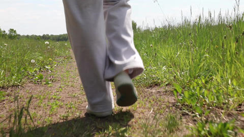 Close-up of a woman's foot Stock Video Footage