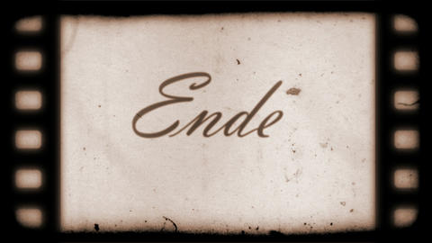 The End Vintage Filmstrip (in German) Animation