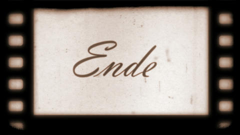 The End Vintage Filmstrip (in German) Stock Video Footage