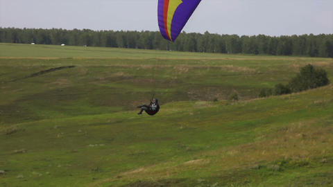 Paragliding stock footage