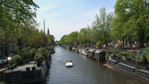 Tourism in Amsterdam Stock Video Footage