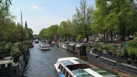 Amsterdam Canal Cruise Stock Video Footage