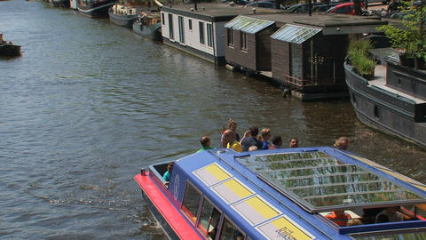 Amsterdam Canal Cruise 019 Stock Video Footage