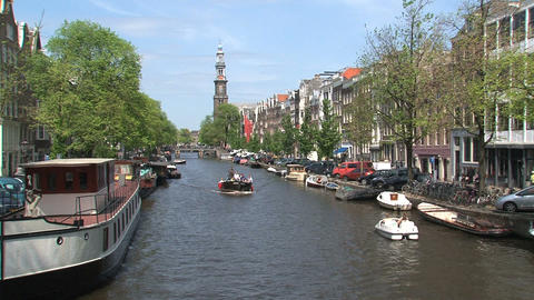Amsterdam Canal Cruise Footage