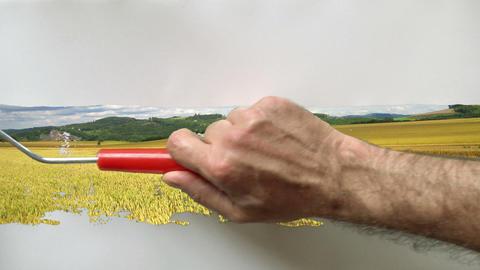 paintroll painting 01 Footage