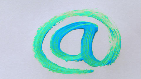 paint email Stock Video Footage