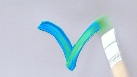 paint symbol 01 Stock Video Footage
