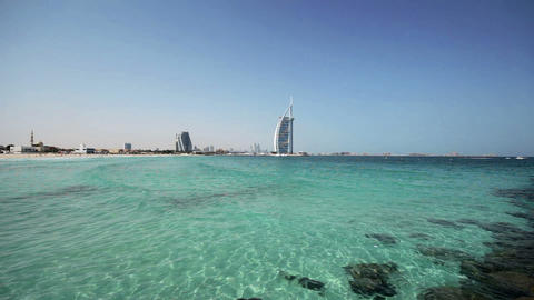 Burj Al Arab. Dubai stock footage