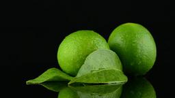 Fresh green limes Footage