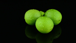 Fresh green limes Stock Video Footage