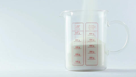 Pouring sugar Stock Video Footage
